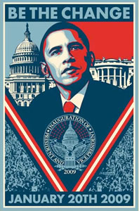 Shepard Fairey's Inauguration Poster