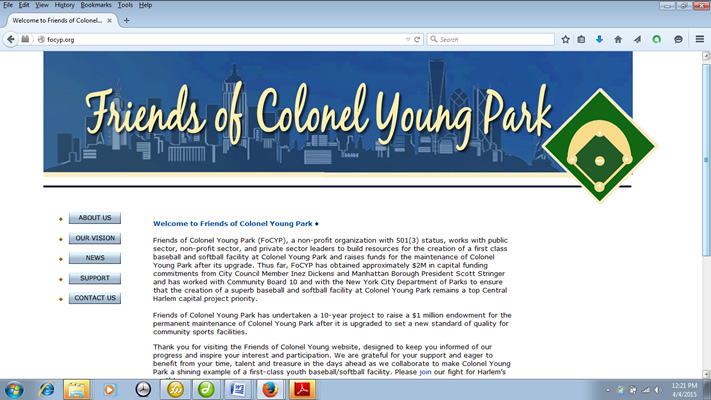 Friends of Colonel Young Park website