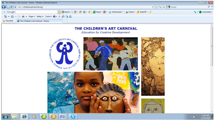 Children's Art Carnival website